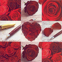 Roses Of Love Lunch Napkin
