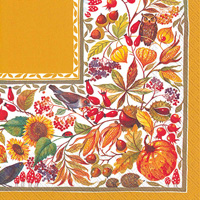 Autunno Bellino Ochre Lunch Napkin