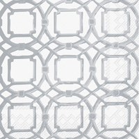 Courtyard Silver Lunch Napkin
