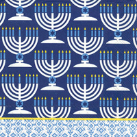 Festival of Lights Blue Lunch Napkin