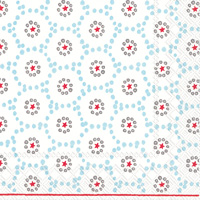 Winter Dotty Light Blue Lunch Napkin
