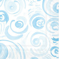 Happy Circles Light Blue Lunch Napkin