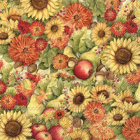 Flowers & Fruit Lunch Napkin