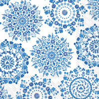 Lilly White/Blue Lunch Napkin