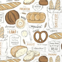 Freshly Baked Bread White Lunch Napkin