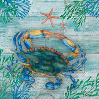Clearwater Crab and Starfish Lunch Napkin