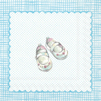 For My Little Baby Light Blue Lunch Napkin