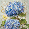 Blue Heirloom Flowers Lunch Napkin