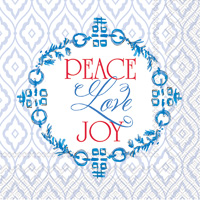 Blue Wreath Lunch Napkin