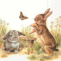 Bunny and Clyde Lunch Napkin
