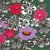 Marimekko Kaukokaipuu Dark Green Lunch Napkin
