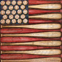 Baseball Flag Lunch Napkin