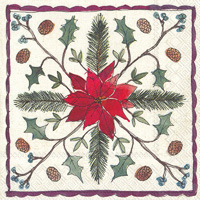 Christmas Floristry Lunch Napkin