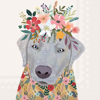 Mia Charro Floral Dog Lunch Napkin