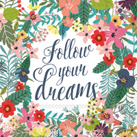 Mia Charro Follow Your Dreams Lunch Napkin