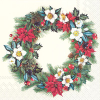 Christmassy Wreath Lunch Napkin