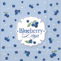 Blueberry Days Light Blue Lunch Napkin