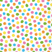 Colourful Dots Yellow/Orange Lunch Napkin