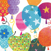 Balloons Lunch Napkin