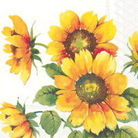 Colourful Sunflowers Lunch Napkin