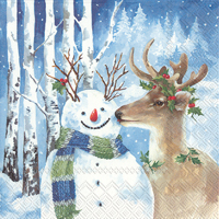 A Kiss For Snowman Lunch Napkin