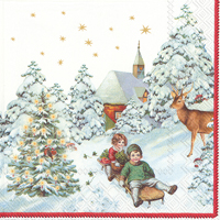 Annual Christmas Snow Lunch Napkin