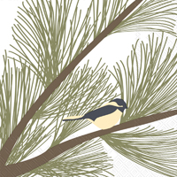 Kate Nelligan Chickadee and Pine Lunch Napkin