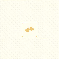 Giorno Festivo Hearts Cream/Gold Embossed Lunch Napkin