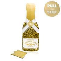 My Design Co. Champagne Cracker Card Congratulations Gold Glitter