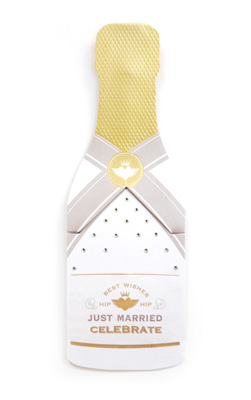 My Design Co. Champagne Cracker Card Just Married Diamond