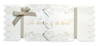 My Design Co. Wedding Cracker Card To Have & To Hold Gold