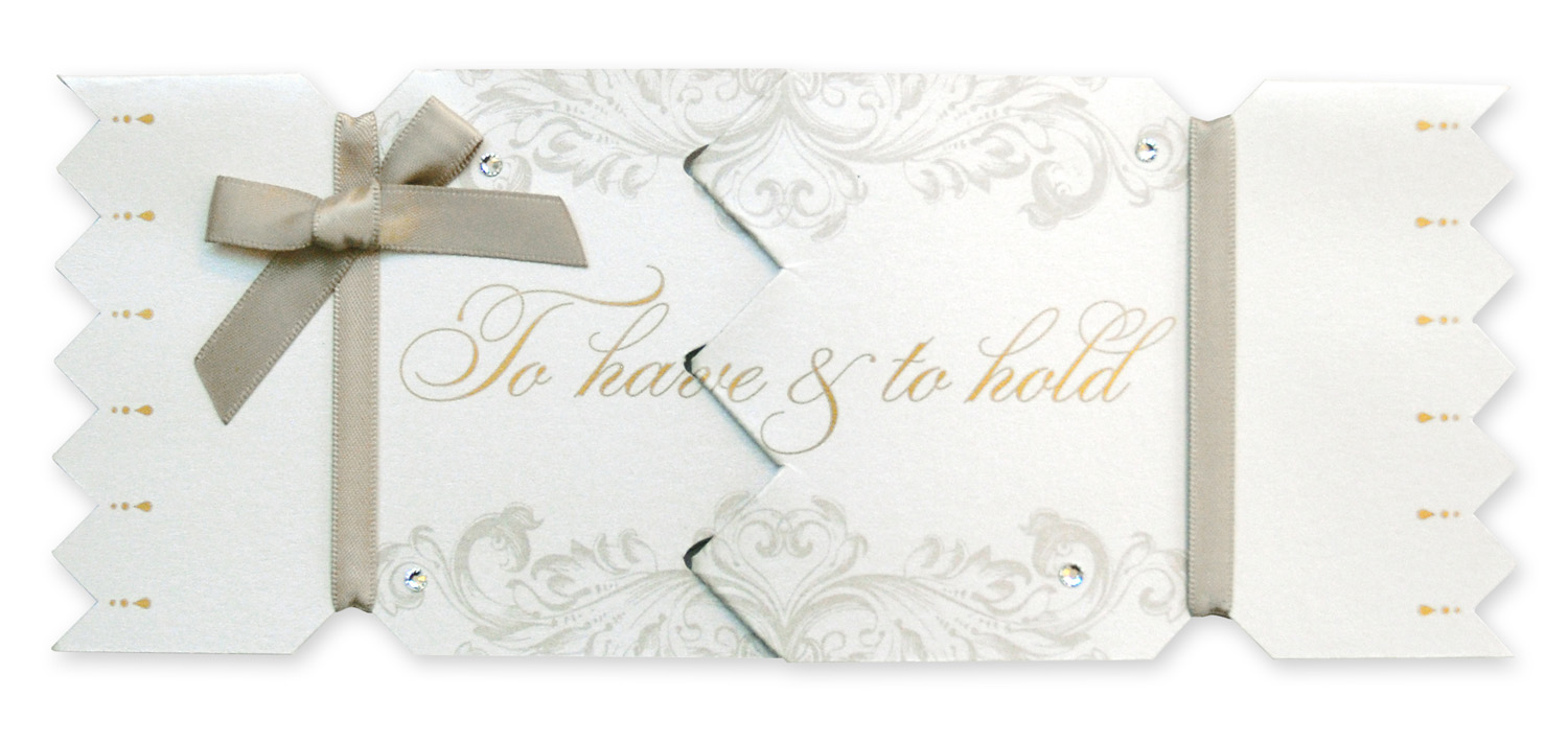 My Design Co Wedding Cracker Card To Have To Hold Gold