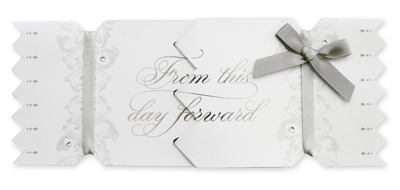 My Design Co. Wedding Cracker Card From this Day Forward Silver