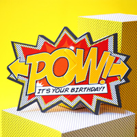My Design Co. Comic Action Cracker Card Pow