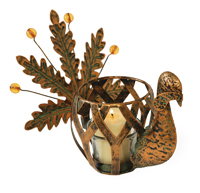 Aged Copper Turkey Tealight Holder