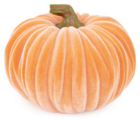 Large Velvet Pumpkin Orange