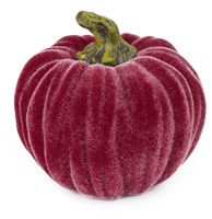 Small Velvet Pumpkin Burgundy