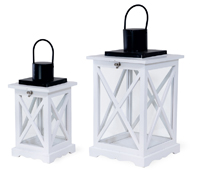 White Crisscross Lanterns