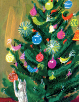 The MET Duvoisin Cat Under Tree Boxed Holiday Cards