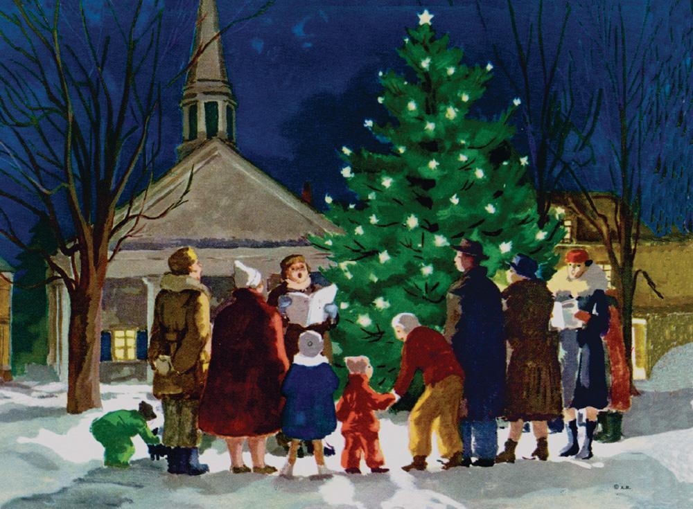 Ruellan Christmas Carols Holiday Cards
