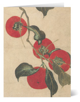 The MET Edo Persimmon Holiday Card Notecards