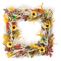 Sunflower Square Wreath