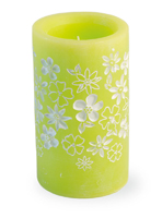 Green Floral LED Candle