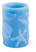 Shells Large LED Candle
