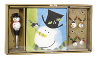 Drink Set Top Hat Snowman