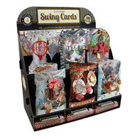 Santoro Christmas Swing Card Display