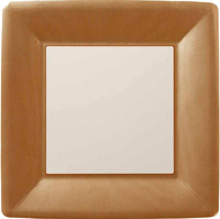 Classic Linen Copper Square Paper Dinner Plate