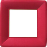 Classic Linen Red Square Paper Dinner Plate