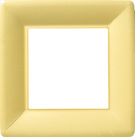 Classic Linen Yellow Square Paper Dinner Plate