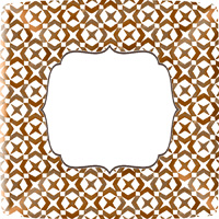 Rosanne Beck RB Turkey Square Paper Dinner Plate
